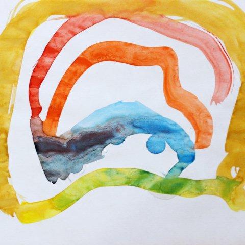 Нарисуйте вместе с ребенком радугу