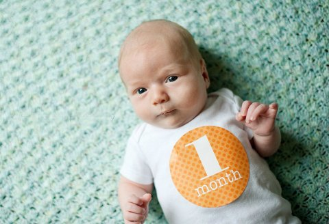 Your 1 month old baby