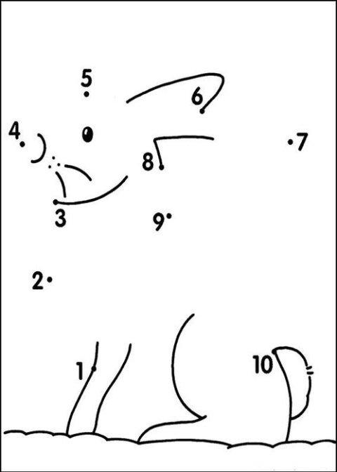 Учим цифры - легко! Рисование по точкам