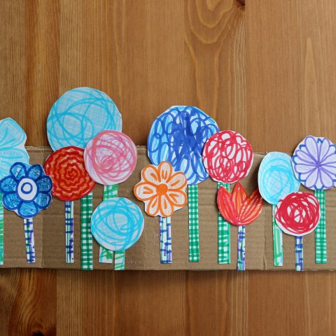 Activity picture for Pretty Flowerbed Made Out Of Paper and Cardboard in Wachanga