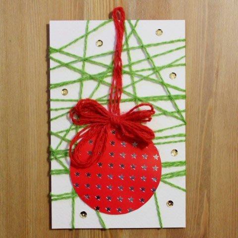 Make a Christmas Ornament Card using Woll!