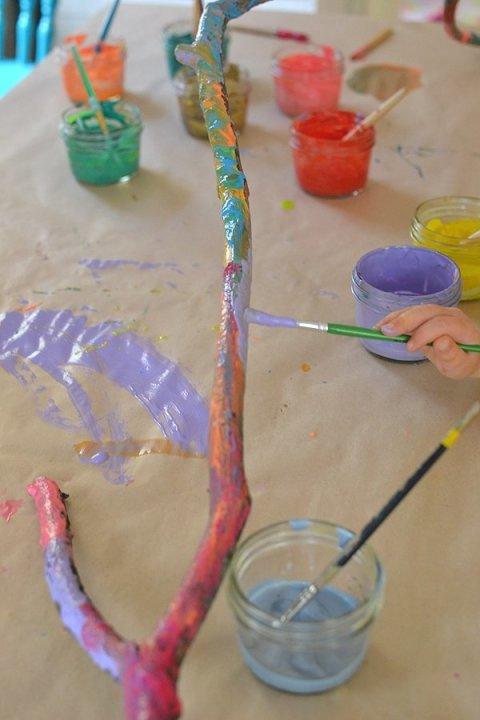 Картинка к занятию Разноцветные веточки в Wachanga