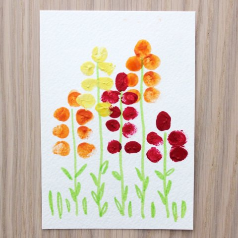 "Activity picture for Greeting card ""Hyacinths"" in Wachanga"