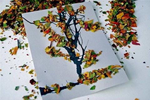 Картинка к занятию Сделайте с ребенком осеннее дерево в Wachanga