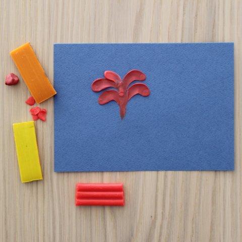 необычная техника творчества с пластилином поделка к 9 мая