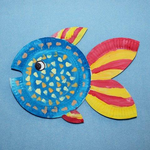 пошаговая инструкция сделать поделку из бумажной тарелки