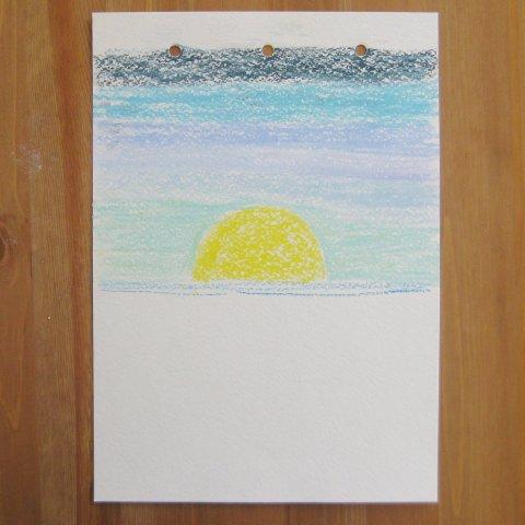 как нарисовать море пастелью этап 2