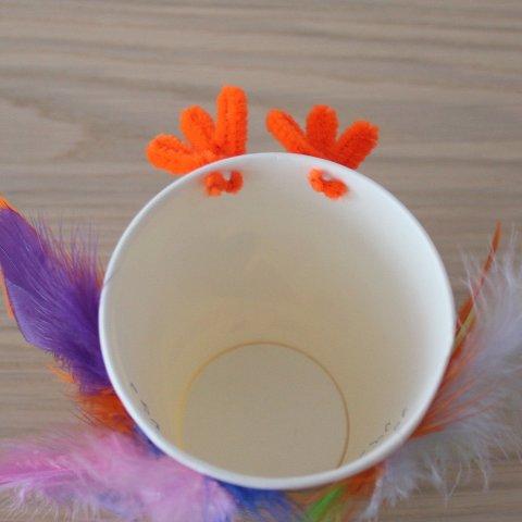 Картинка к занятию Сделайте вместе с ребенком индюка из одноразового стаканчика  в Wachanga