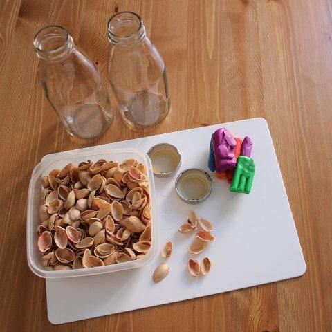 скорлупа орехов бутылки пластилин нужны для детского творчества