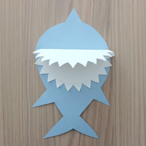 Картинка к занятию Забавная акула своими руками в Wachanga