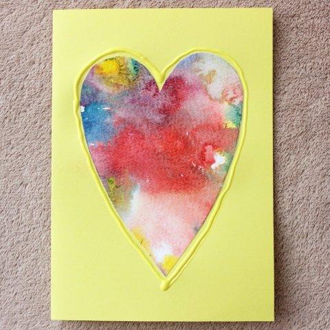 """Открытка """"Разноцветное сердце"""""""