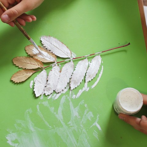Activity picture for Make leaf imprints in Wachanga