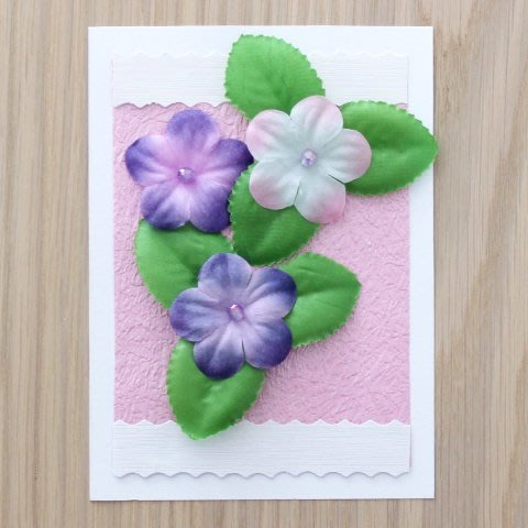 "Greeting card ""Spring Flowers"""