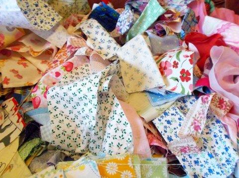 Кусочки ткани