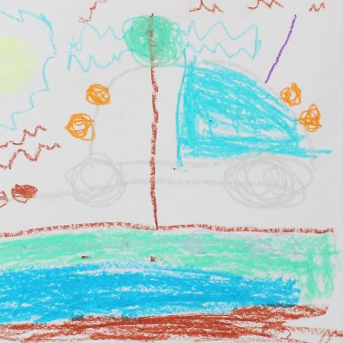 Предложите ребенку порисовать масляными мелками