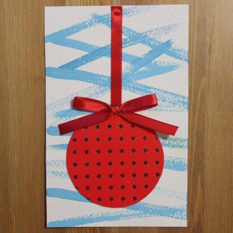 Картинка к занятию Открытка «Ёлочный шарик» в Wachanga