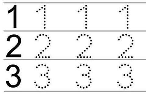 Нарисуй цифры по точкам