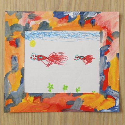 Make a colorful photo frame