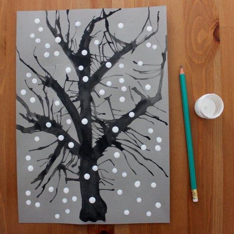 как нарисовать снегопад лайфхак для творчества