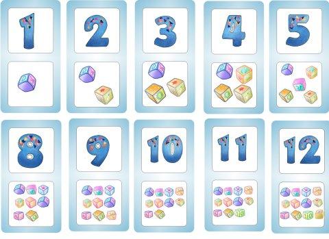Карточки с цифрами