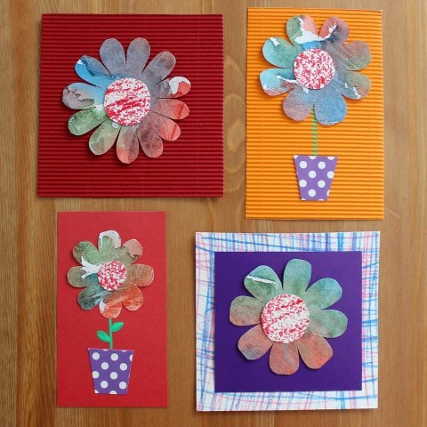 Greeting the Spring: Make pretty cards for relatives!
