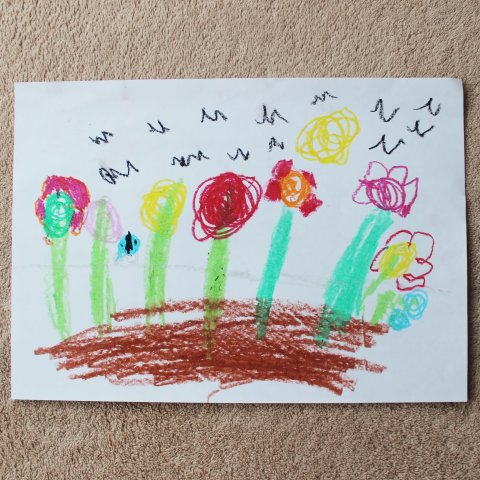 Научите ребенка рисовать цветочки
