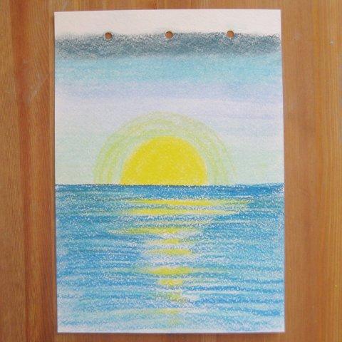 как нарисовать вместе с ребенком море пастелью