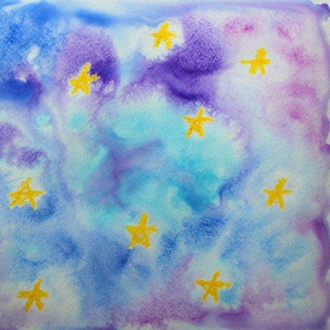 творчество акварель ребенок рисует