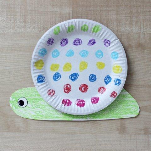 улитка из картонной тарелки