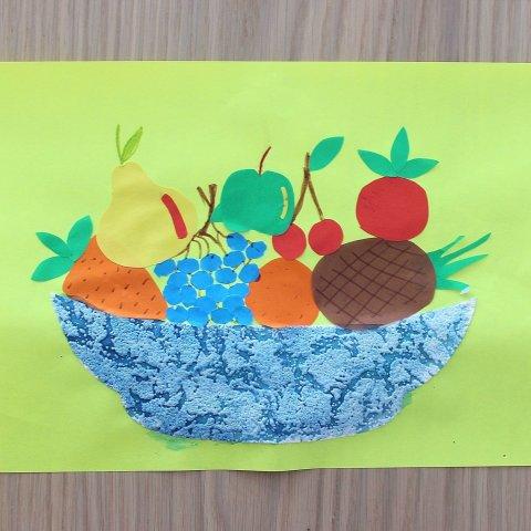 """Аппликация """"Овощи и фрукты"""""""