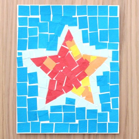 "открытка в технике ""мозаика"""