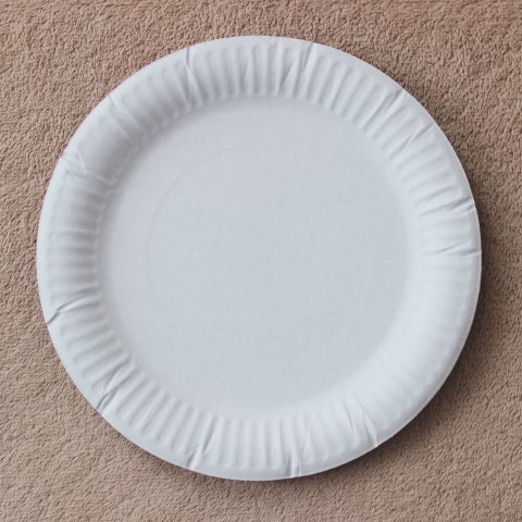 картонная одноразовая тарелка вид сверху