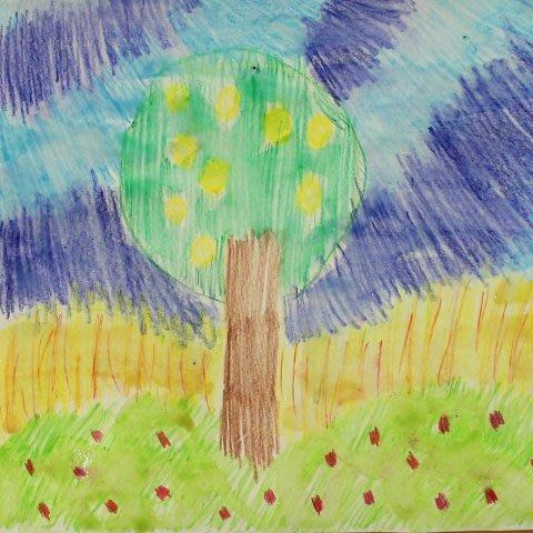 Порисуйте с ребенком акварельными карандашами!