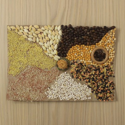 Make a panel out of groats and seeds