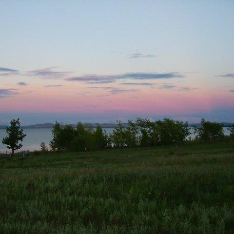 любоваться закатом вместе с ребенком на природе отдых