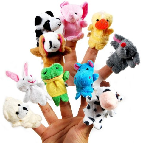 Play with finger puppets
