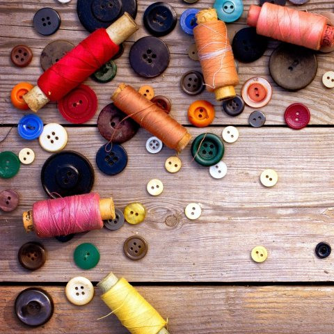 Teach your kid to sew buttons