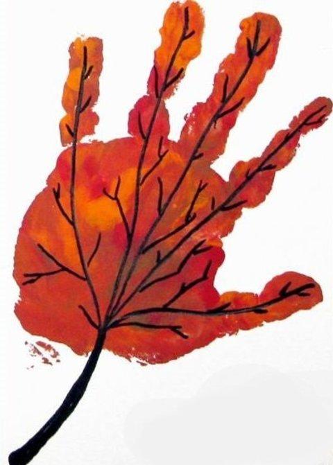 Картинка к занятию Кленовый листок в Wachanga