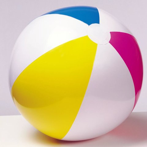 Playing with a big beach ball