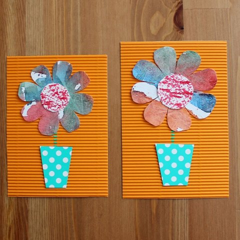 Activity picture for Greeting the Spring: Make pretty cards for relatives! in Wachanga