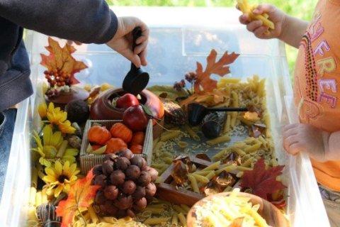 Vegetable sensory box