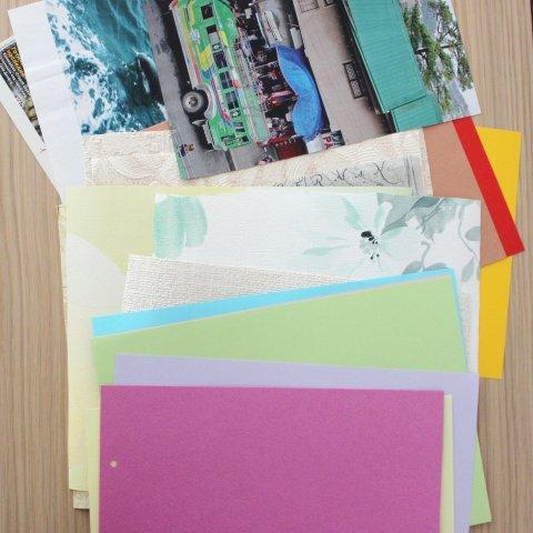 разноцветные листы бумаги для рисования