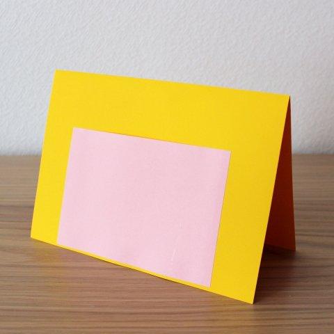 изготовление открытки этап 1