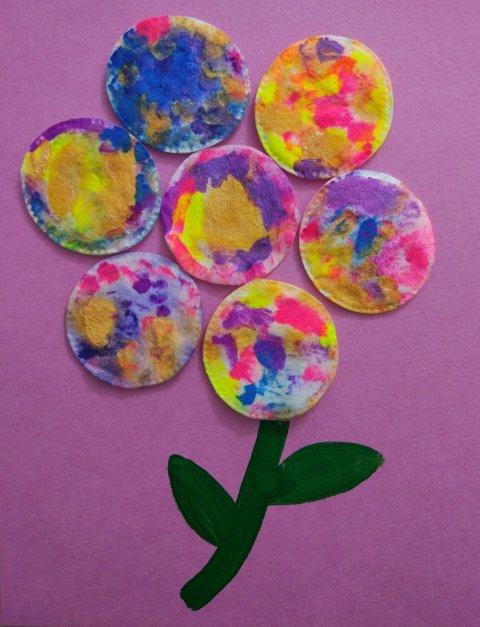 Детское творчество поделка аппликация из ватных дисков