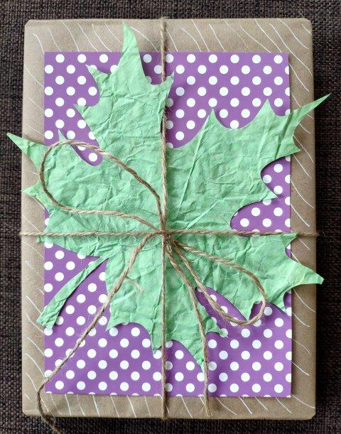как сделать вместе с ребенком оригинальную осеннюю упаковку для подарка своими руками