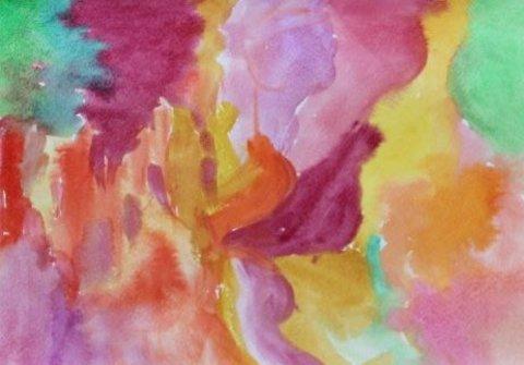 как вместе с ребенком сделать фон для осенней картины акварельными красками
