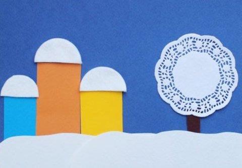 Картинка к занятию Городской зимний пейзаж в Wachanga