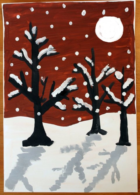 Activity picture for How to draw a Winter Landscape in Wachanga