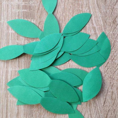 листья из бумаги для поделки