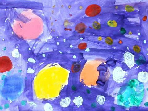 Activity picture for Paint  outer space with your kid in Wachanga